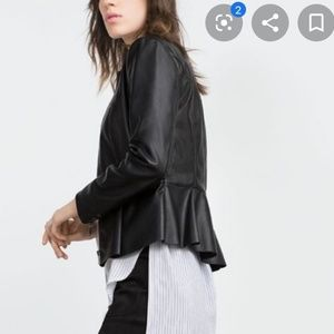 Mossimo leather peplum jacket